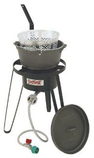 Bayou Classic B159, Outdoor Fish Cooker with Cast Iron Fry