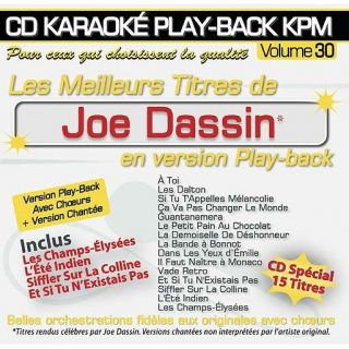 CD Karaoké Play Back KPM Vol.30 Joe Dassin   Achat CD VARIETE