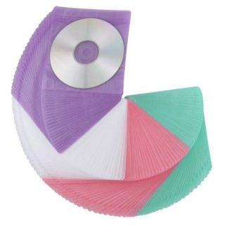 200 piece Assorted Color CD/ DVD Sleeve with Binding Holes