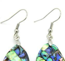 Pearlz Ocean Abalone Shell Marquise Dangle Earrings