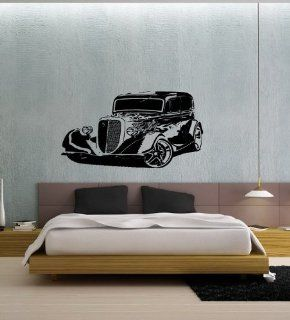 HOT ROD CAR WALL ART STICKER DECAL MURAL VINYL T15 Home