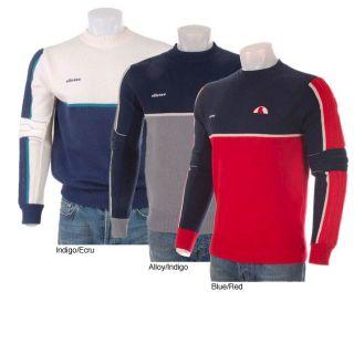 Ellesse Mens 100 Pure Wool Retro Ski Sweater