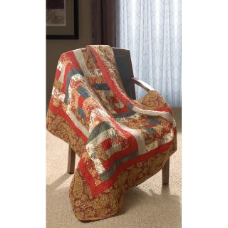 Log Cabin 100 percent Cotton Quilted Throw