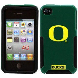 NCAA Oregon Ducks Helmetz Hard iPhone 4 Case   Green Home