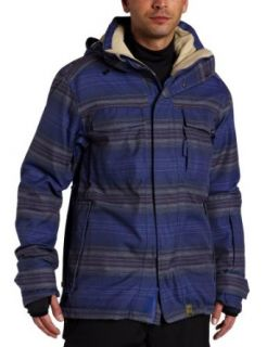 Planet Earth Mens Faded Flannel Insulated Jacket: Clothing