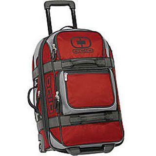 OGIO Red Layover Rolling Duffel Bag