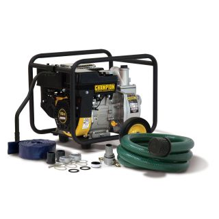 Champion 2 inch Trash/ Water Transfer Pump with Hose Kit Compare $313
