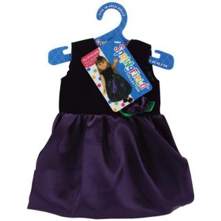 Springfield Collection Black Velvet and Purple Satin Dress Today $11
