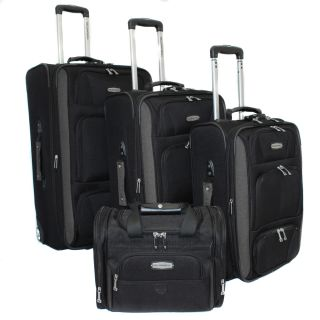 Bell + Howell Grey Quick Access 4 piece Expandable Luggage Set Today
