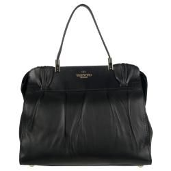 Valentino 7WB00783 Black Leather Shopper Bag