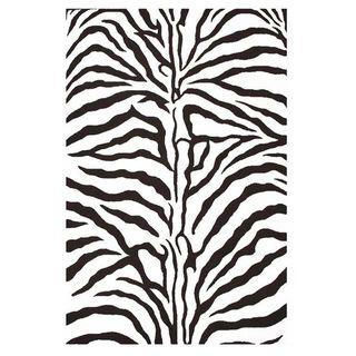 Hand tufted Zebra Stripe Wool Rug (8 x 106)