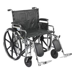 Drive Medical Sentra Extra Heavy duty Wheelchair with Various Arm