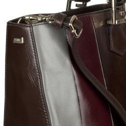 Fendi 8BN203 Leather Colorblock Tote Bag