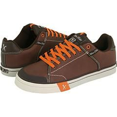 Unltd by Marc Ecko Walsall Brown Leather/ Orange Trim Athletic