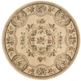Aubusson Collection Ivory Rug (53 Round) Today $111.99 Sale $100.79