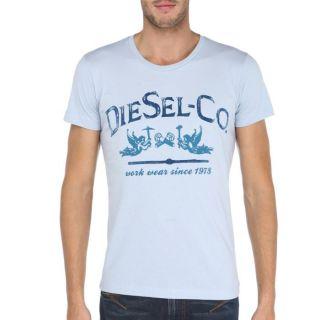DIESEL T Shirt Homme Bleu ciel   Achat / Vente T SHIRT DIESEL T Shirt