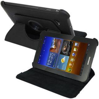 SKQUE Samsung Galaxy Tab 7.0 Plus Black Rotating Leather Case