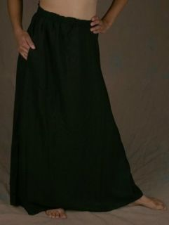 Skirt, Rayon   Pocketed, Long   Black   Extra Large