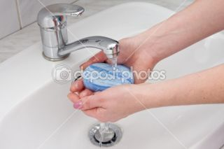 Hands wash with soap  Stock Photo © grapix #7818240