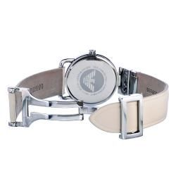 Emporio Armani Womens Beige Strap Watch