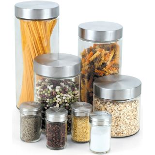 Cook N Home 8 Piece Glass Canister Spice Jar Set Today $24.99 4.4 (7