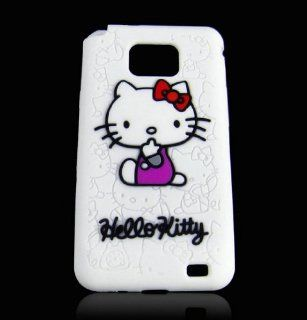 hello kitty white silicone case for samsung galaxy s2