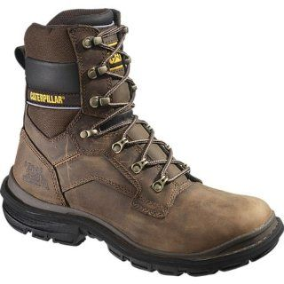CATERPILLAR 8 Generator Steel Toe Work Boots, DK BEIGE, 9.5 Shoes