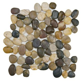 This item SomerTile 12x12 in Riverbed Multi Natural Stone Mosaic Tile