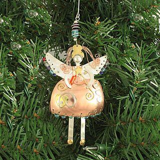 Handcrafted Bella Angel Mixed Metals Ornament (Thailand)