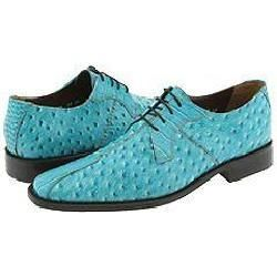 Stacy Adams Lorant Turquoise Ostrich Print With Croco Print Leather