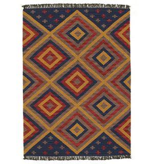 Hand woven Southwest Wool Rug (8 x 106)
