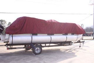BRAND NEW *BURGUNDY* VORTEX ULTRA PONTOON BOAT COVER, BEST