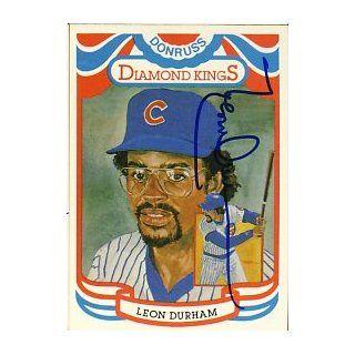 Leon Durham Signed 1983 Donruss Diamond Kings Cubs