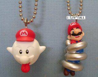 Nintendo Super Mario Galaxy Boo Mario Coil Spring Mario