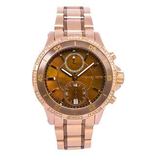 Michael Kors Womens Garret Brown Steel Watch
