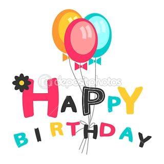 Happy birthday card with balloons  Vector stock © littlepaw