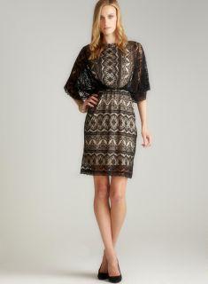 Marina Lace Blouson Kimono Dress