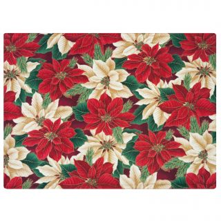 Crimson Placemat by Rose Tree Christmas Evergreen Placemats (Set of