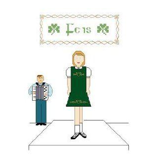 Irish Dance Cross Stitch Chart Kit   Girl Dancer with