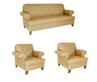 Sand Color Sofa and Two Chairs Set