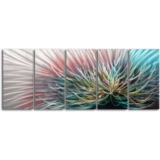 Circuit Overload 5 piece Contemporary Handmade Metal Wall Art Set