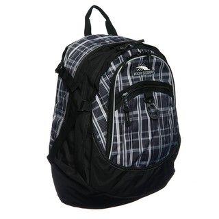 High Sierra Black/Ash Vertical Plaid Fat Boy Backpack