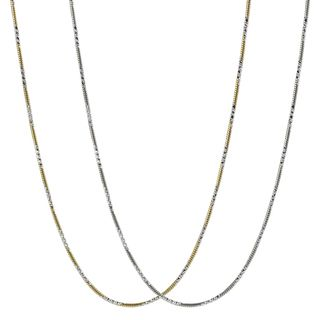 Tressa Collection Sterling Silver Gold plated Chain