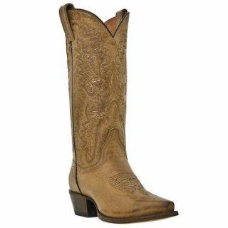 Dan Post Womens 12 Inch Tan Mad Cat Santa Rosa Boots  DP3463 Shoes