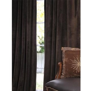 Signature Java Velvet 108 inch Blackout Curtain Panel