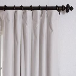 Off White Velvet Blackout 108 Inch Curtain Panel