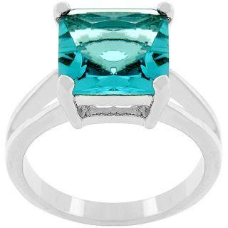 Kate Bissett Silvertone Blue Lagoon Cubic Zirconia Ring