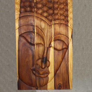 Monkey Pod Wood Tung Oil Serene Buddha Panel (Thailand) Today $279.99