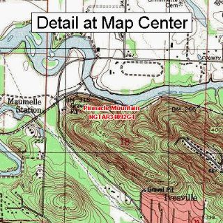 USGS Topographic Quadrangle Map   Pinnacle Mountain