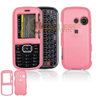 Pink Rubber Feel Snap On Cover Hard Case Cell Phone